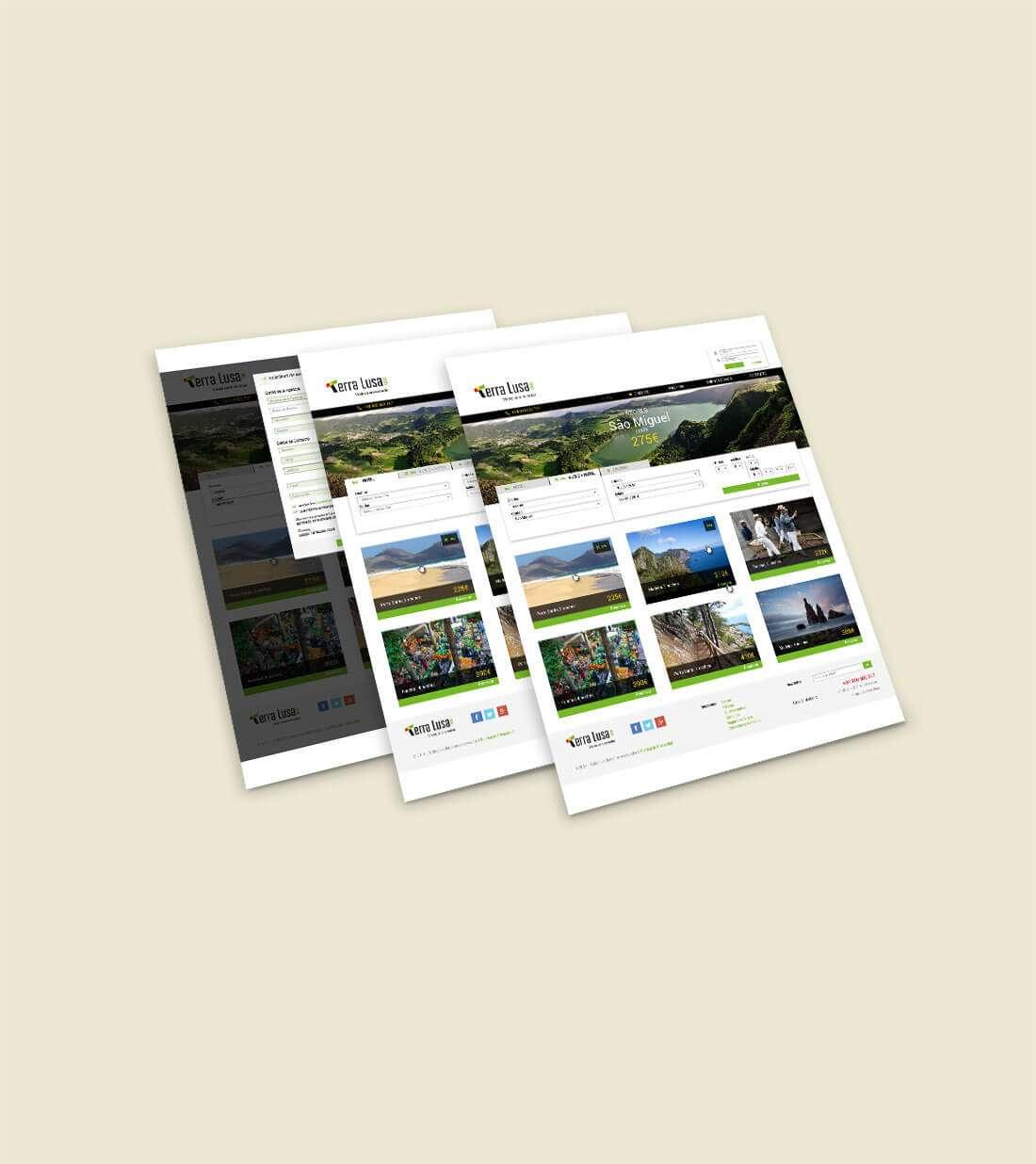 Terra Lusa Tours. Diseño website