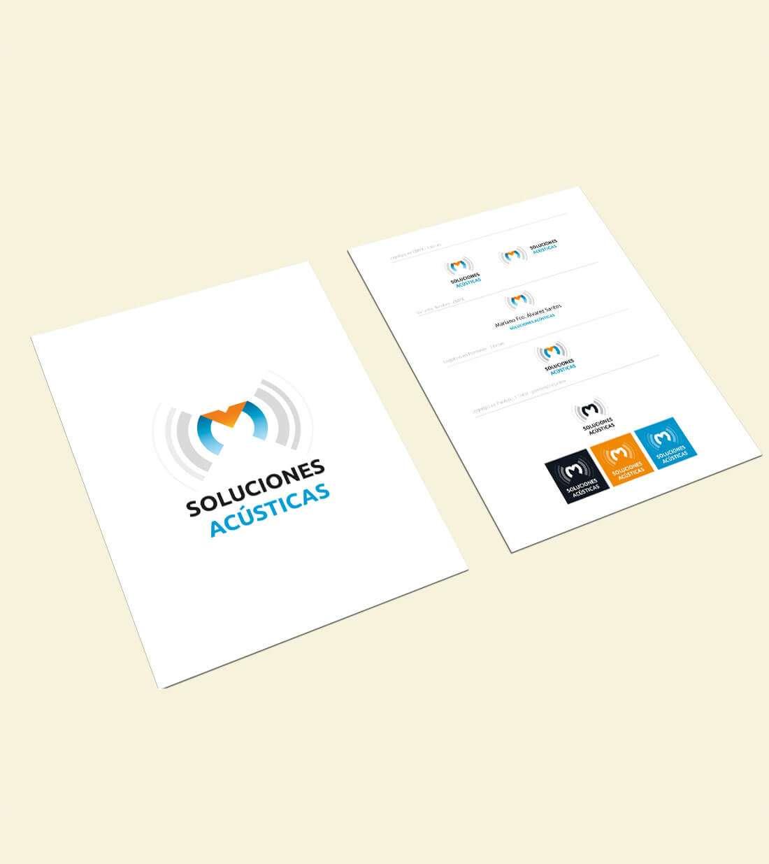 Soluciones Acústicas. Logotipo
