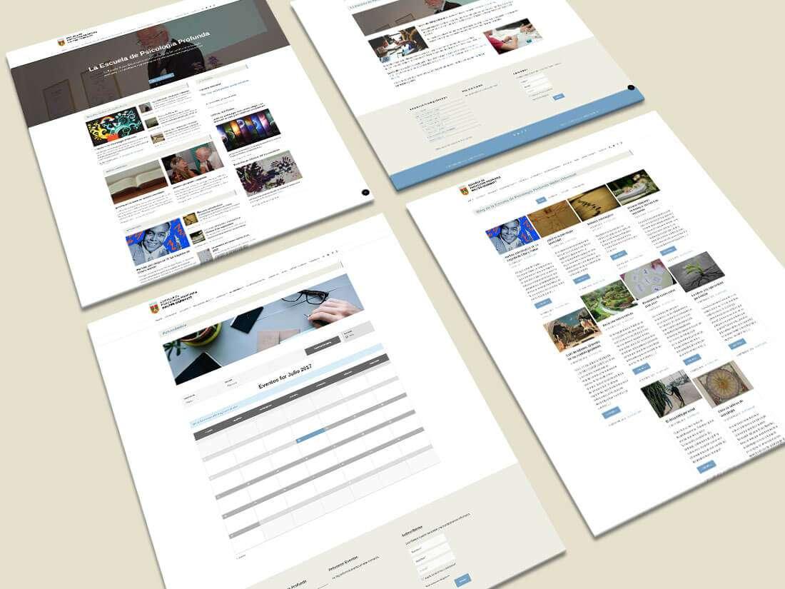 Escuela de Psicologiaprofunda. Website, páginas