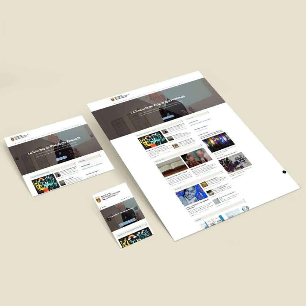 Escuela de Psicologiaprofunda. Website, responsive views