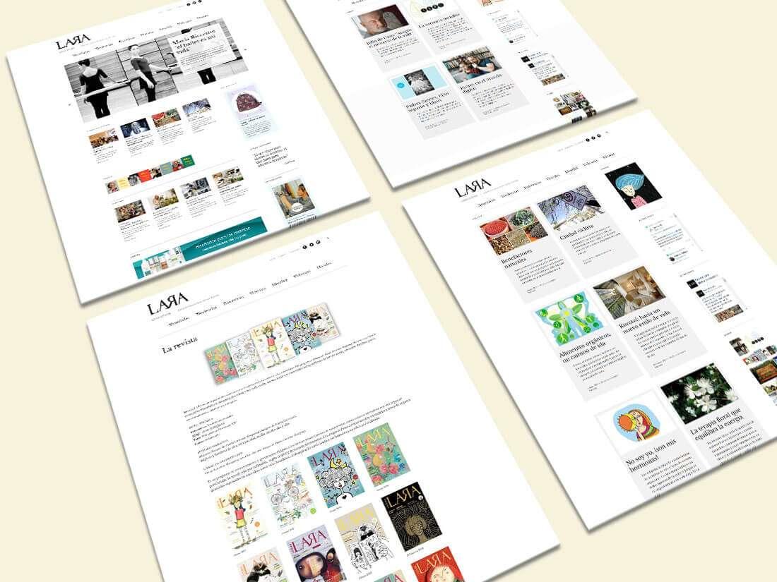 Revista Lara Online. Website, páginas