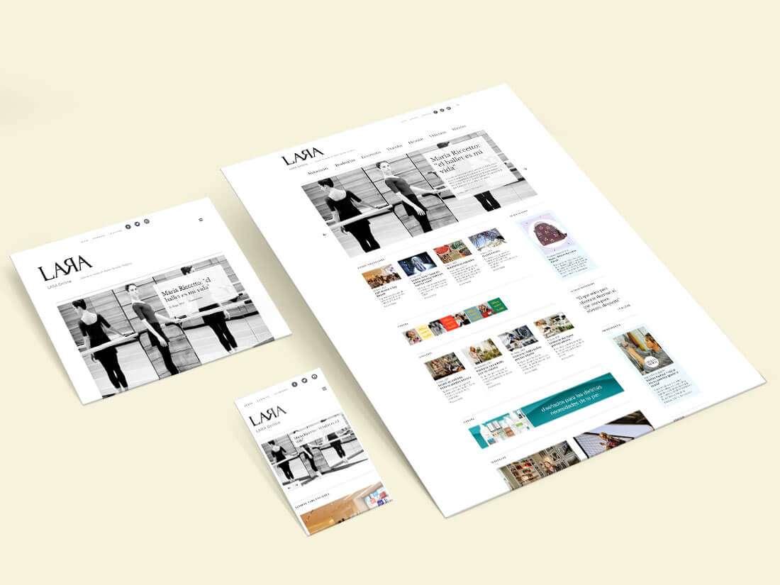 Revista Lara Online. Website, responsive views
