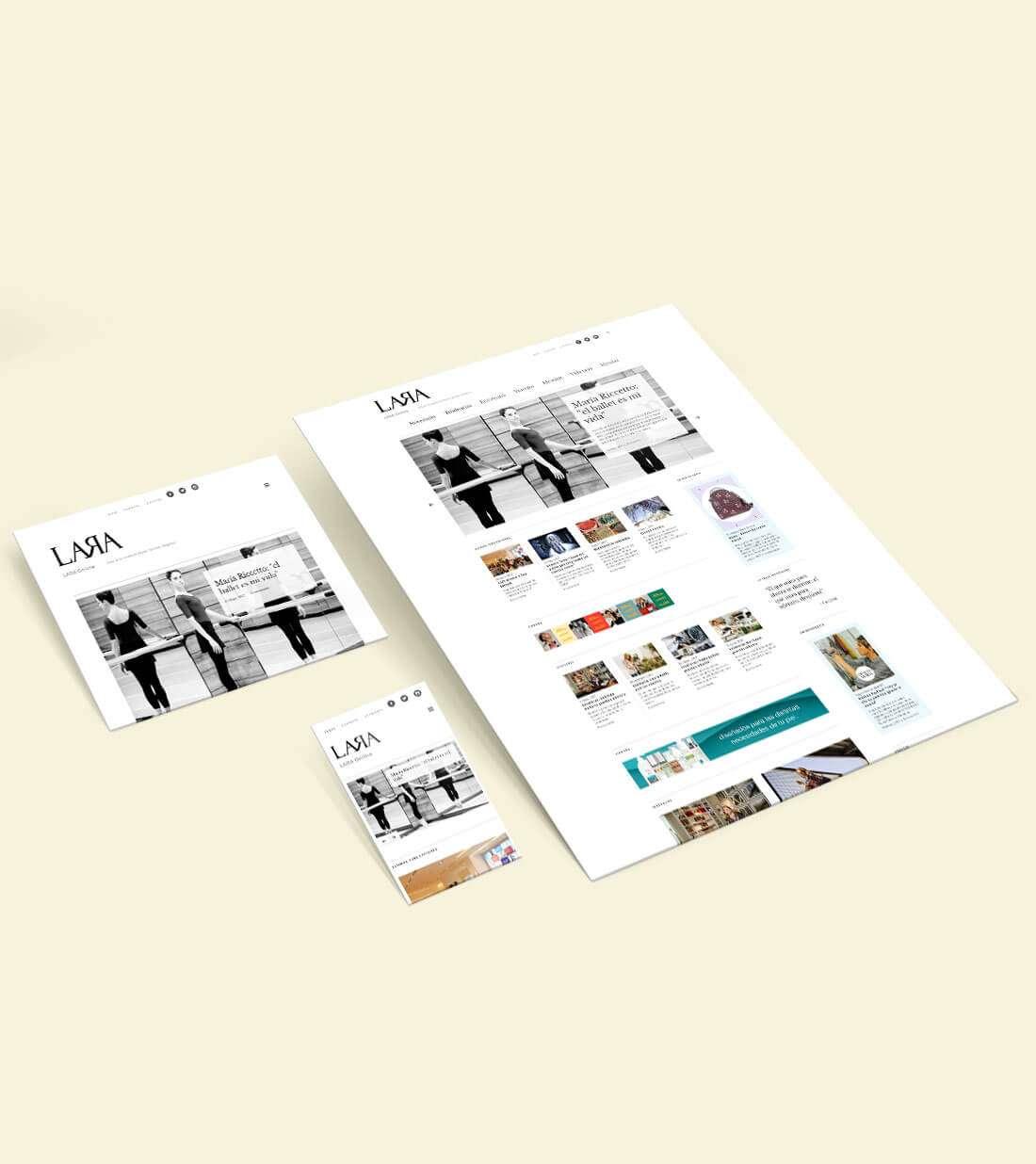 Revista Lara Online. Responsive views
