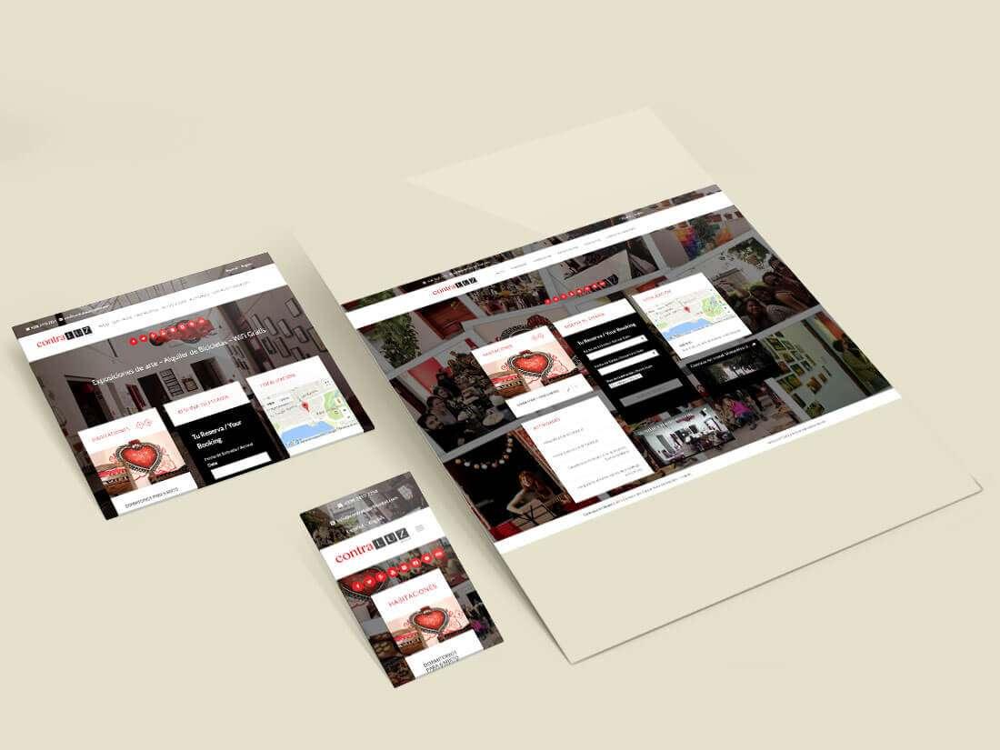 Website Contraluz Art Hostel